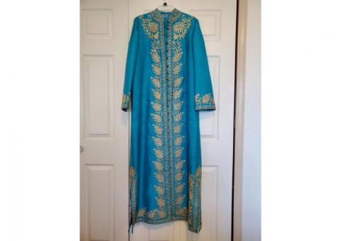 Vintage Mourjana Silk Kaftan Robe