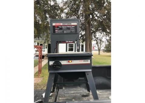 "Used, 12"" Two-speed, Sears Craftsman Bandsaw"
