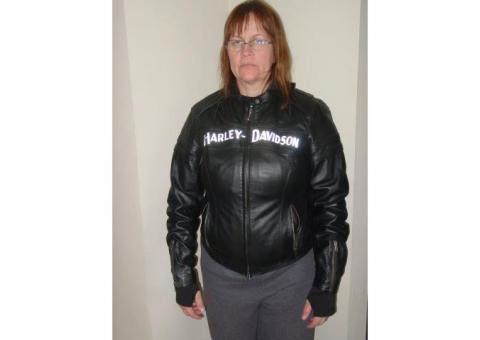 Harley Davidson Leather Jacket Large, Removable Liner